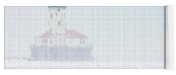 Lighthouse In The Mist Yoga Mat