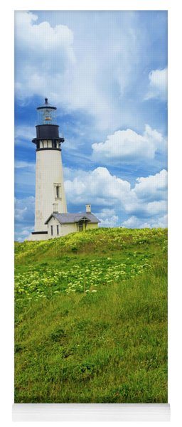 Lighthouse On  Yaquina Head  Yoga Mat