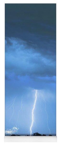 Lightning Raining Down With Some Firework Sprinkles Yoga Mat