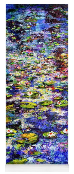 Lily  Pond Impressions Oil Painting Yoga Mat