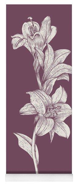 Lily Purple Flower Yoga Mat