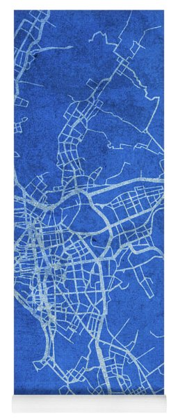 Lima Peru City Street Map Blueprints Yoga Mat