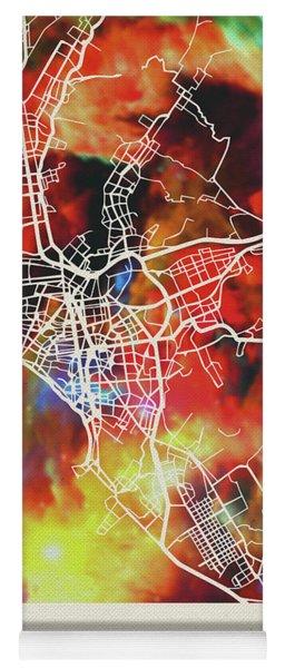 Lima Peru Watercolor City Street Map Yoga Mat