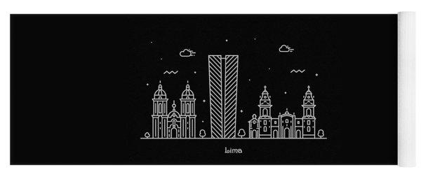 Lima Skyline Travel Poster Yoga Mat