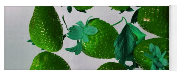Lime Strawberries Yoga Mat