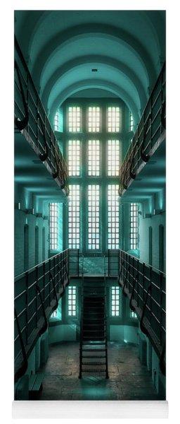 Lincoln Castle Prison In Blue Yoga Mat