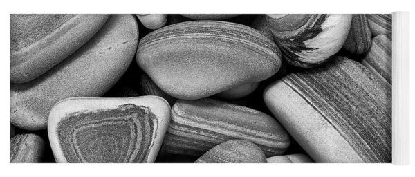Lined Rocks And Shell Yoga Mat
