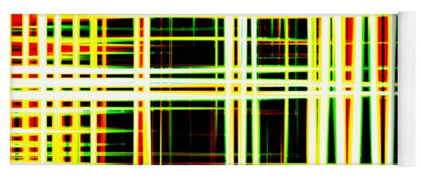 Lines And Squares In Color Waves - Plb418 Yoga Mat