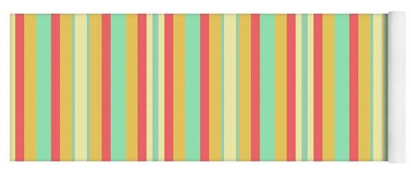 Lines Or Stripes Vintage Or Retro Color Background - Dde589 Yoga Mat