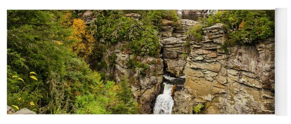 Linville Falls - Wide View Yoga Mat