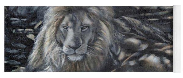 Lion In Dappled Shade Yoga Mat