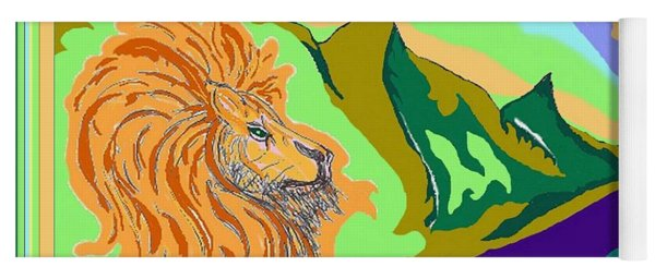 Lion In The Mountain Yoga Mat