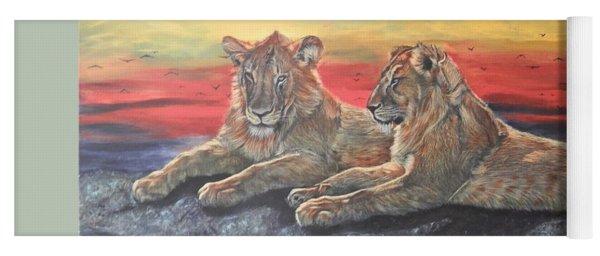 Lion Sunset Yoga Mat