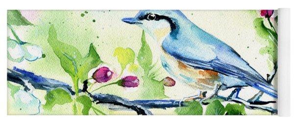Little Blue Spring Bird Yoga Mat