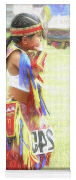 Little Native American Dancer Yoga Mat