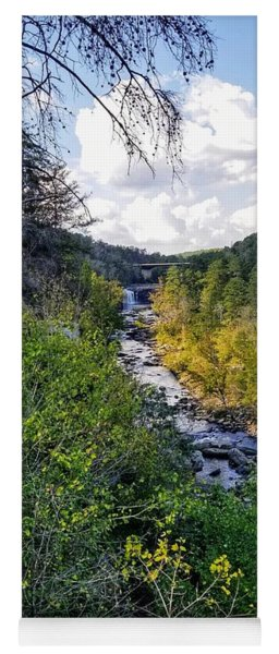 Yoga Mat featuring the photograph Little River Canyon Alabama by Rachel Hannah