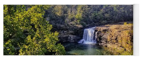 Yoga Mat featuring the photograph Little River Canyon Falls Alabama by Rachel Hannah