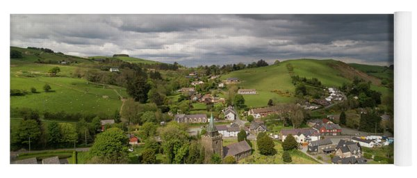 Llangurig From The Air Yoga Mat