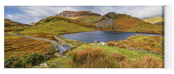Llyn Y Dywarchen And Boathouse Snowdonia Yoga Mat