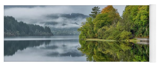 Yoga Mat featuring the photograph Loch Ard In Scotland by Jeremy Lavender Photography