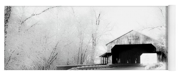 Yoga Mat featuring the photograph Lockport Covered Bridge by Michael Arend
