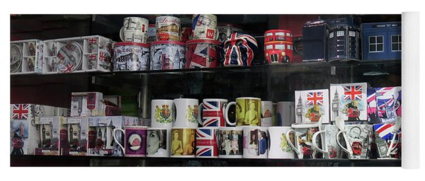 London England Shop Window Yoga Mat