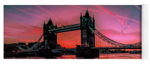London Tower Bridge Sunrise Pano Yoga Mat