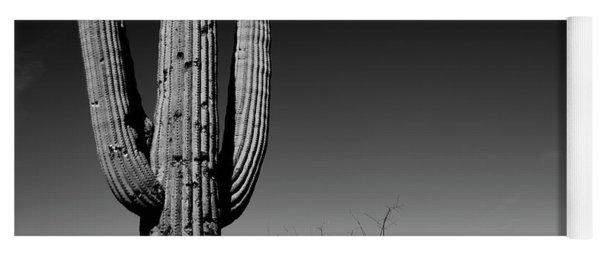 Lone Saguaro Square Yoga Mat