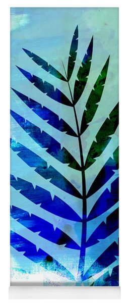 Lonely Leaf Watercolor Yoga Mat