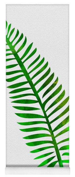 Lonely Tropical Leaf II Yoga Mat