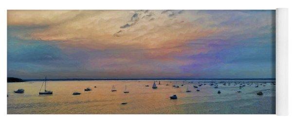 Long Island Sound From Glen Cove Yoga Mat