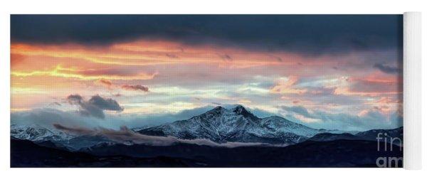 Longs Peak At Sunset Yoga Mat