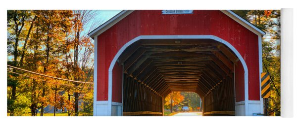 Looking Into The Cresson Covered Bridge Yoga Mat