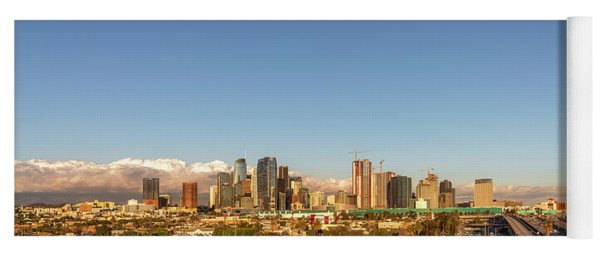 Los Angeles Skyline Looking East Panorama 2.9.19 Yoga Mat