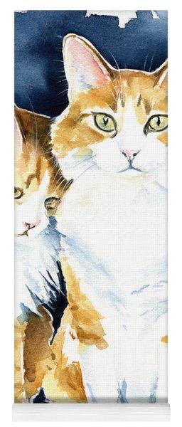 Love Me Meow Cat Painting Yoga Mat