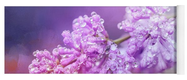 The Magic Of Lilacs In The Rain Yoga Mat