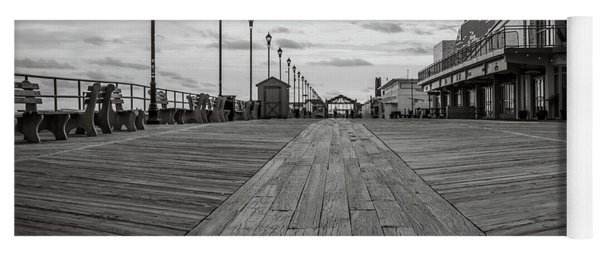 Yoga Mat featuring the photograph Low On The Boardwalk by Steve Stanger
