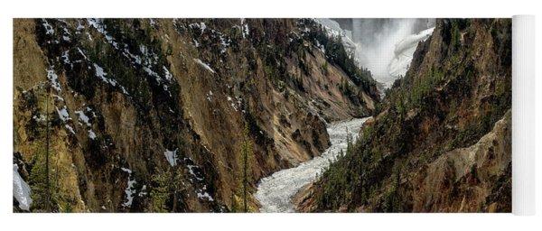 Lower Falls In Yellowstone Yoga Mat