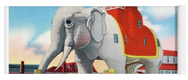 Lucy The Elephant Yoga Mat