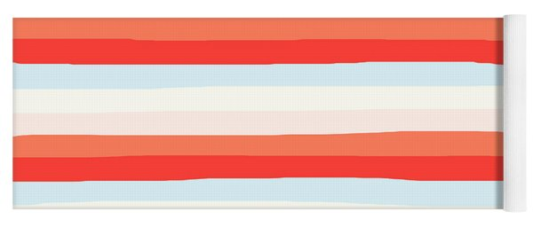 lumpy or bumpy lines abstract and colorful - QAB266 Yoga Mat