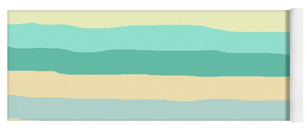 lumpy or bumpy lines abstract and summer colorful - QAB271 Yoga Mat