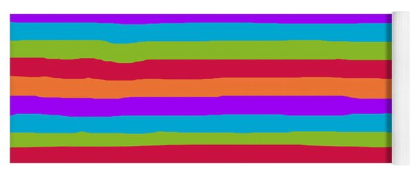lumpy or bumpy lines abstract and summer colorful - QAB273 Yoga Mat