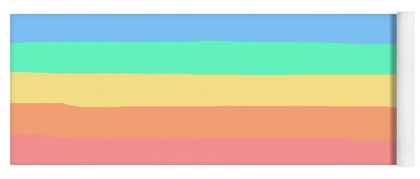 lumpy or bumpy lines abstract and summer colorful - QAB275 Yoga Mat
