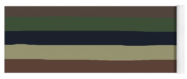 Army Color Style Lumpy Or Bumpy Lines - Qab279 Yoga Mat