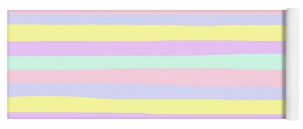 lumpy or bumpy lines abstract - QAB283 Yoga Mat