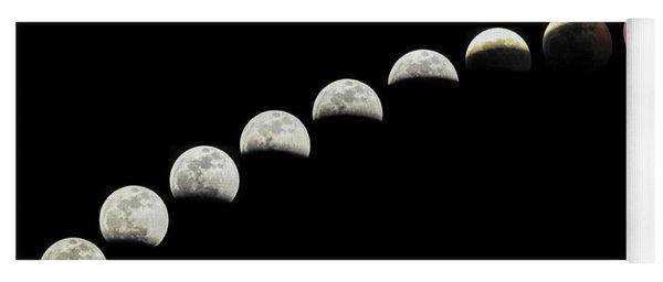 Lunar Eclipse Super Blood Wolf Moon  Yoga Mat