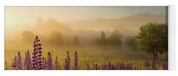 Lupine In The Fog, Sugar Hill, Nh Yoga Mat