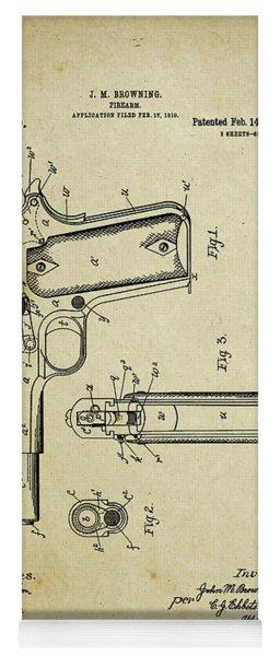 M1911 Browning Pistol Patent Yoga Mat