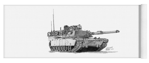 M1a1 B Company Xo Tank Yoga Mat