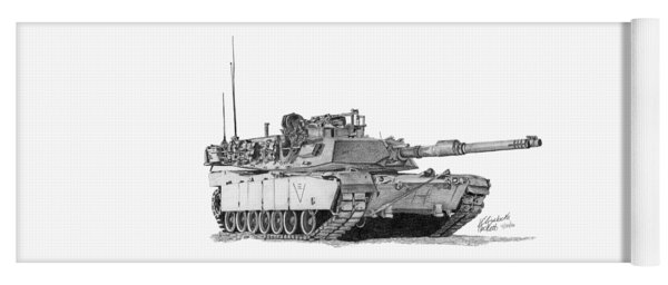 M1a1 C Company 3rd Platoon Commander Yoga Mat